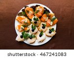 Appetizer  Sliced Fish On A...