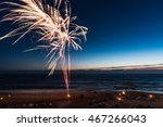 Fireworks On The Beach On The...