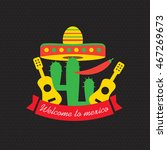 mexican food logo. mexican fast ... | Shutterstock .eps vector #467269673