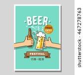 poster of beer festival. | Shutterstock .eps vector #467278763