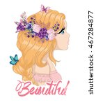 beautiful girl vector girl... | Shutterstock .eps vector #467284877