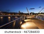 peace bridge in derry. derry ... | Shutterstock . vector #467286833