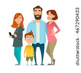 family  mom  father  son ... | Shutterstock .eps vector #467290433