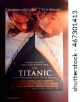 Small photo of BELFAST, NI - JULY 14, 2016: James Cameron film Titanic poster in the Titanic Belfast, visitor attraction dedicated to the RMS Tinanic, a ship whic sank by hitting an iceberg in 1912.