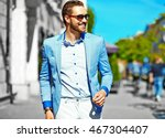 high fashion look.young stylish ...   Shutterstock . vector #467304407
