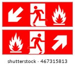 emergency fire exit downward  ... | Shutterstock .eps vector #467315813