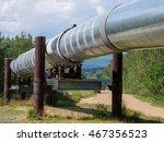 Small photo of Famous Alaskan Pipeline near Fairbanks, AK, USA