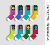 set of colorful socks. raster... | Shutterstock . vector #467356757