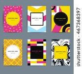set of trendy hipster geometric ...   Shutterstock .eps vector #467368397
