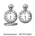 antique pocket watch. vector... | Shutterstock .eps vector #467371463