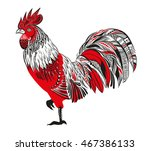 stylized rooster on a white... | Shutterstock .eps vector #467386133