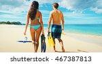 happy romantic couple... | Shutterstock . vector #467387813