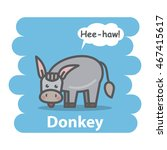 Donkey Vector Illustration On...