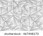 abstract seamless geometrical... | Shutterstock . vector #467448173