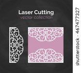 laser cutting template. laser... | Shutterstock .eps vector #467477327