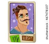zodiac sign. cartoon virgo man. ... | Shutterstock . vector #467478107