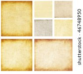 aged paper set | Shutterstock . vector #46748950
