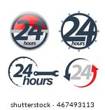 vector 24 hours icons set.... | Shutterstock .eps vector #467493113