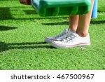 shoe on grass | Shutterstock . vector #467500967