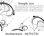 decorative design with place... | Shutterstock .eps vector #46751731