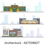 set of modern high school... | Shutterstock .eps vector #467538827