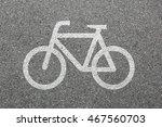 bike lane path way cycle... | Shutterstock . vector #467560703