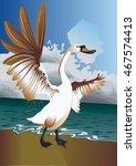 swan near the sea | Shutterstock .eps vector #467574413