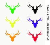 Deer On A White Background....