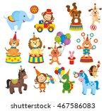 set of animals in circus | Shutterstock . vector #467586083