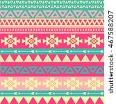 tribal art boho seamless... | Shutterstock .eps vector #467588207