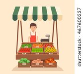 farm shop. local stall market.... | Shutterstock .eps vector #467600237