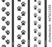 animal footprints seamless... | Shutterstock .eps vector #467611103