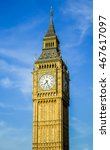 Big Ben Clock Tower Isolated...