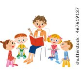 story telling of the book | Shutterstock .eps vector #467619137