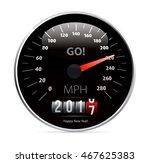 2017 year calendar speedometer...   Shutterstock .eps vector #467625383
