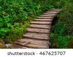 wooden stairs road trail in... | Shutterstock . vector #467625707