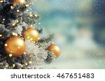 christmas tree. holiday... | Shutterstock . vector #467651483