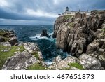 view to the clifftop lighthouse ... | Shutterstock . vector #467651873
