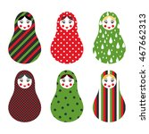 set of russian traditional... | Shutterstock .eps vector #467662313