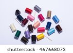 colorfull plastic yarn spools... | Shutterstock . vector #467668073