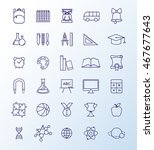 outline icon collection  ... | Shutterstock .eps vector #467677643