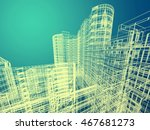 abstract architecture | Shutterstock . vector #467681273