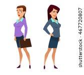 business  teacher  young women... | Shutterstock .eps vector #467720807
