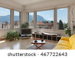 living room of old apartment ... | Shutterstock . vector #467722643