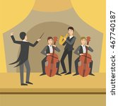 trio with saxophone and two... | Shutterstock .eps vector #467740187