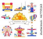 set of amusement park elements | Shutterstock .eps vector #467755163