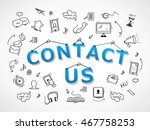 contact us icons set   isolated ... | Shutterstock .eps vector #467758253