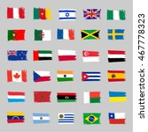 set of 30 grunge flags 2 | Shutterstock .eps vector #467778323