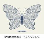 amazing fly butterfly. wild... | Shutterstock .eps vector #467778473