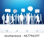 paper business silhouettes.... | Shutterstock .eps vector #467796197